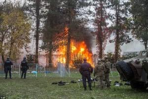 tent burning