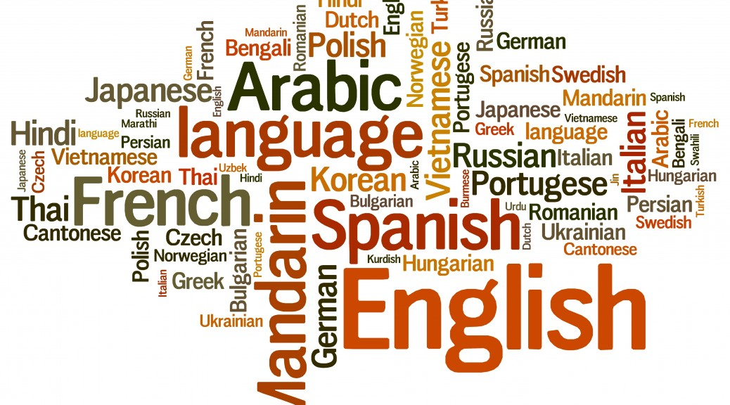 Languages tag cloud - languages diversity